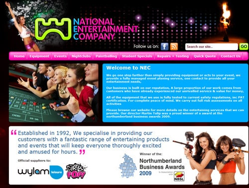 National Entertainment Company – Letting a great company flaunt their assets.