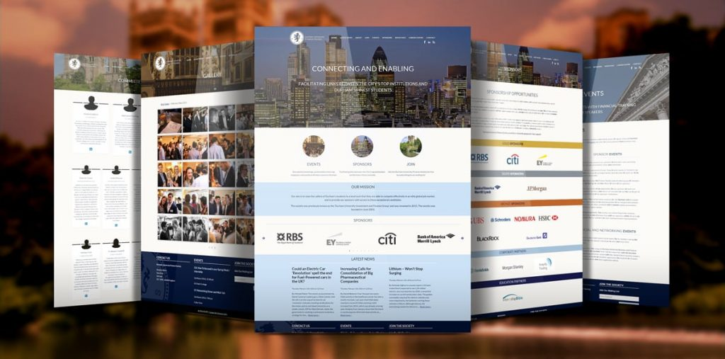 Durham University Finance Society | University Society Web Design